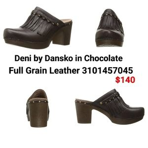 Deni by Dansko in Chocolate Leather Mules 👡